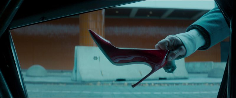 Christian Dior Red High Heel Pumps Worn by Charlize Theron in Atomic Blonde (2017) Movie Product Placement