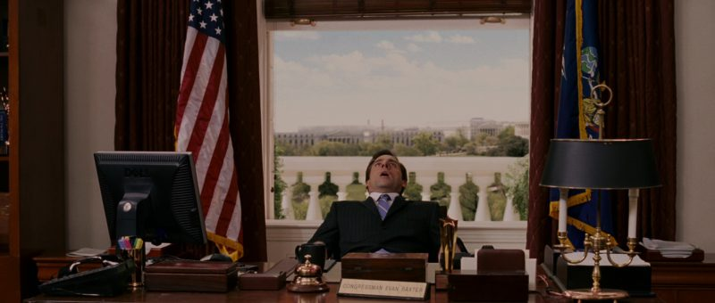 Dell monitor used by Steve Carell in EVAN ALMIGHTY (2007) - Movie Product Placement