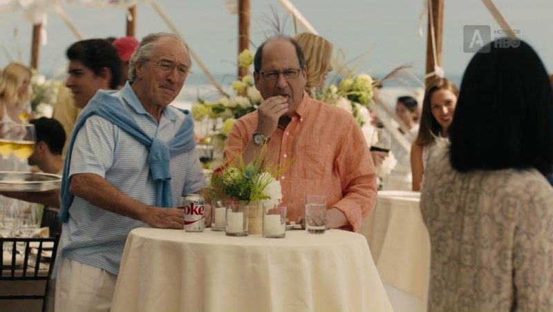 Diet Coke Drink by Robert De Niro (Bernard Madoff) in The Wizard of Lies (2017) Movie Product Placement