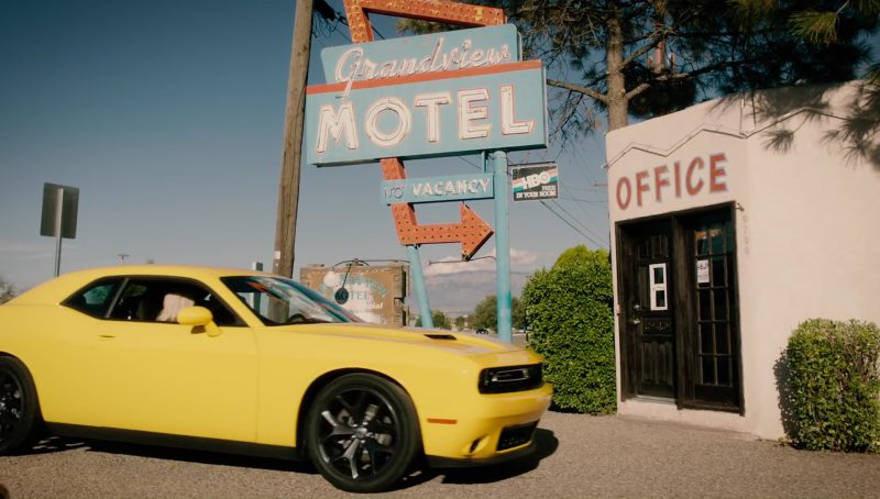 Dodge Challenger (Yellow) Car in Meant to Be by Bebe Rexha feat. Florida Georgia Line (2017) Official Music Video Product Placement
