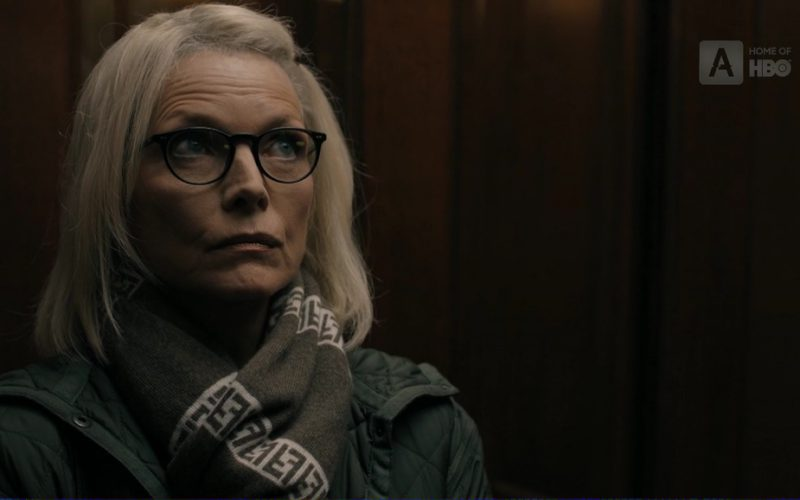 Fendi Ff Logo Scarf Worn by Michelle Pfeiffer (Ruth Madoff) in The Wizard of Lies (1)