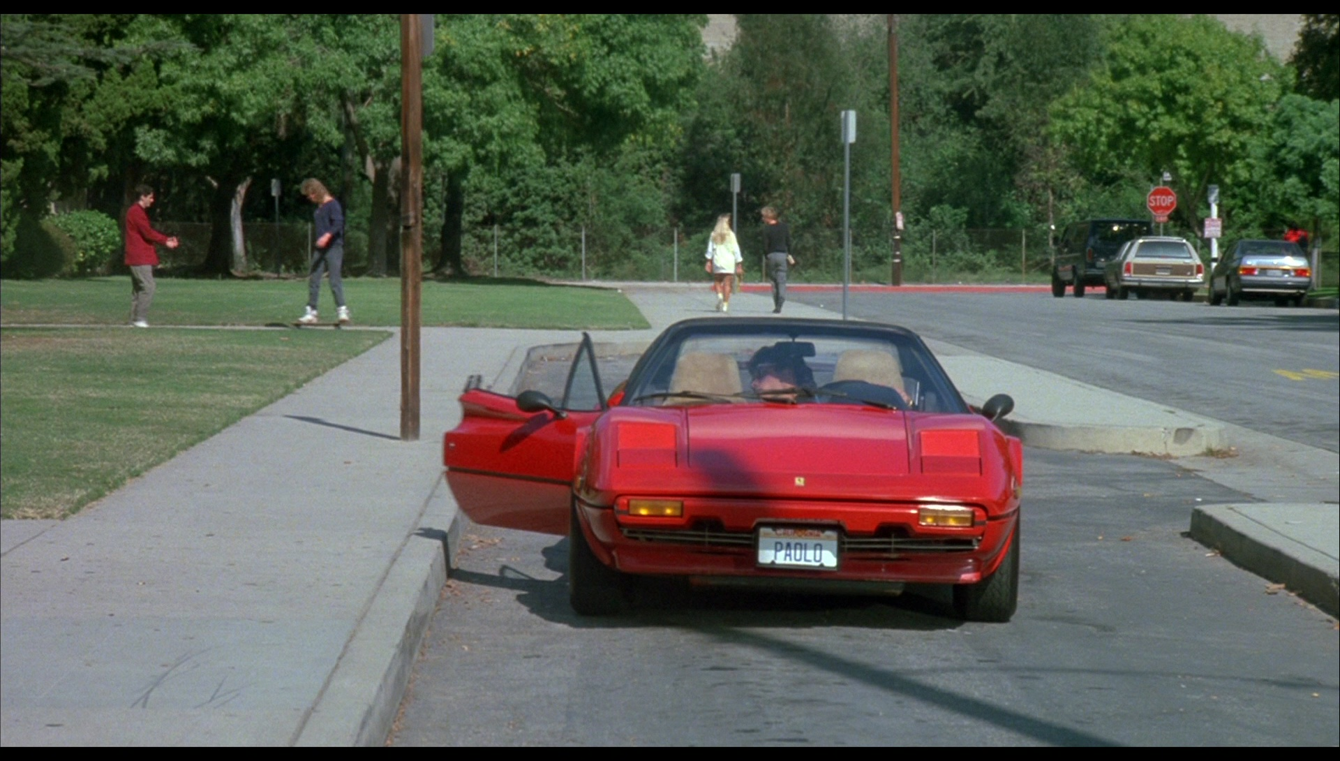 Ferrari 308 Gts Car In License To Drive 1988 Movie Scenes