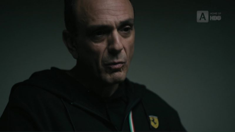 Ferrari Hoodie Worn by Hank Azaria (Frank DiPascali) In The Wizard of Lies (2017) - Movie Product Placement