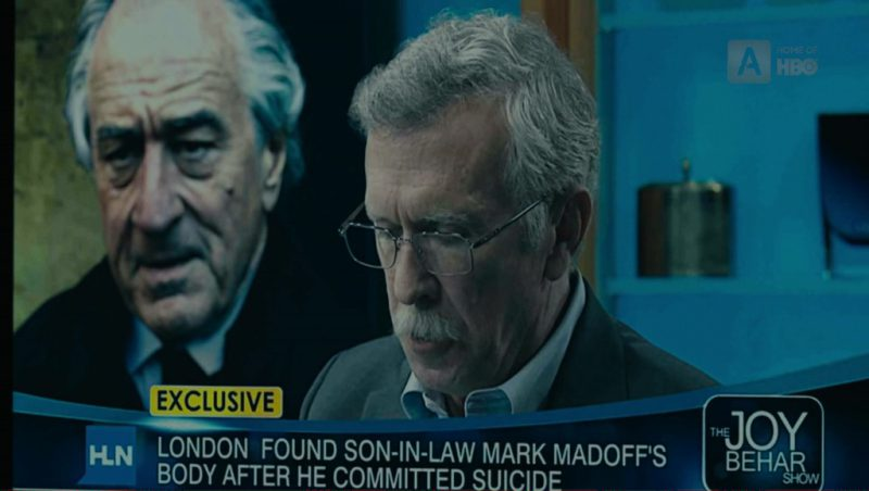 HLN and Joy Behar TV Show in The Wizard of Lies (2017) Movie Product Placement