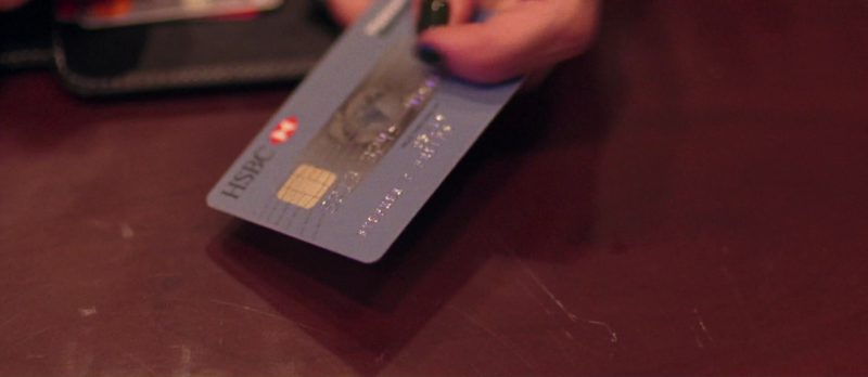 HSBC Bank Credit/Debit Card Used by Jennifer Jason Leigh In Good Time (2017) - Movie Product Placement