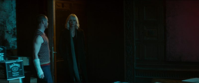 Jack Daniel's Whiskey in Atomic Blonde (2017) Movie Product Placement