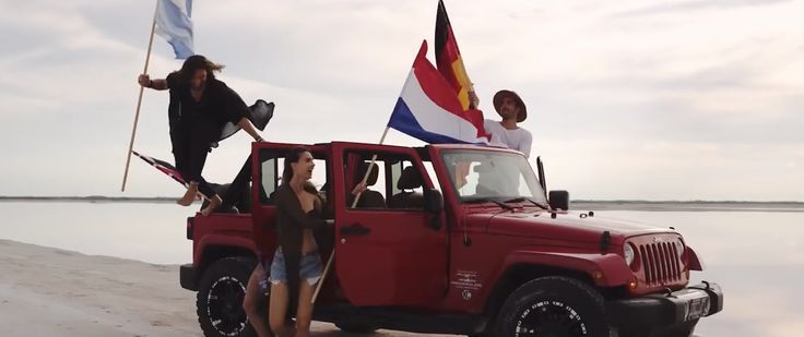 Jeep Wrangler Unlimited SUV in WAVE YOUR FLAG by Afrojack (2017) Official Music Video Product Placement