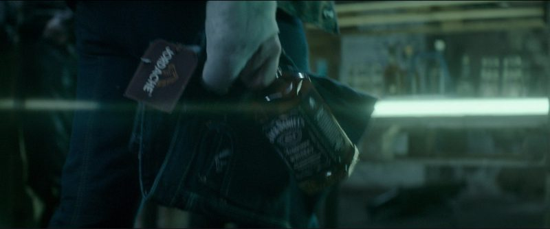 Jordache Jeans and Jack Daniel's Whiskey in Atomic Blonde (2017) Movie Product Placement
