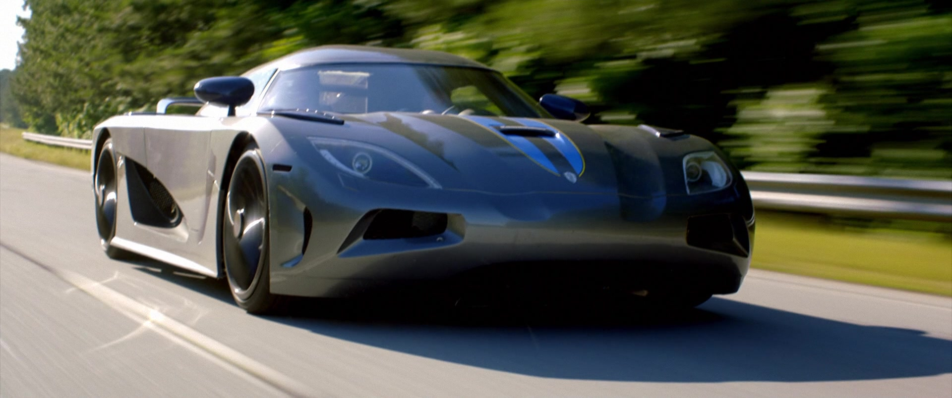 Koenigsegg Agera Grey Sports Car Driven by Aaron Paul in Need for