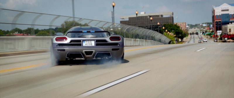 Koenigsegg Agera Grey Sports Car Driven by Aaron Paul in Need for Speed (2014) Movie Product Placement