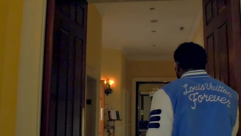 Louis Vuitton Men's Jacket Worn by Gucci Mane in Members Only (2017) Official Music Video Product Placement