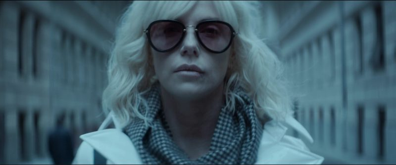 Miu Miu 03QS Sunglasses Worn by Charlize Theron in Atomic Blonde (2017) Movie Product Placement
