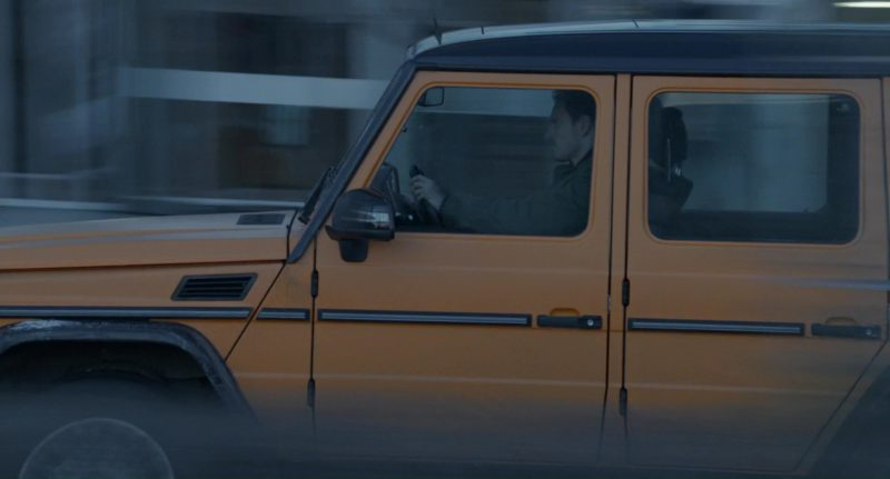 Orange Mercedes-Benz G-Class Car Used by Michael Fassbender in The Snowman (2017) - Movie Product Placement