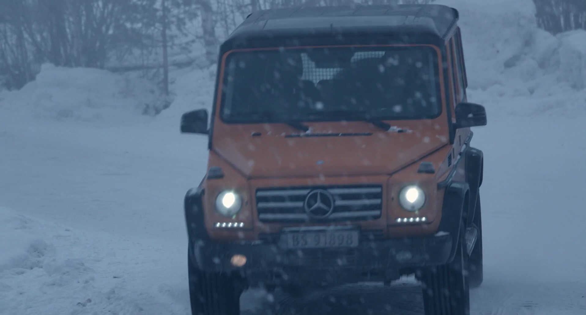 Orange Mercedes Benz G Class Car Used By Michael