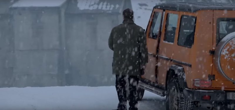Orange Mercedes-Benz G-Class in The Snowman (2017) Movie Product Placement