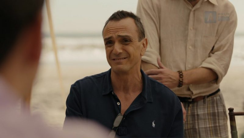 Ralph Lauren Black Polo Shirt Worn by Hank Azaria (Frank DiPascali) in The Wizard of Lies (2017) Movie Product Placement