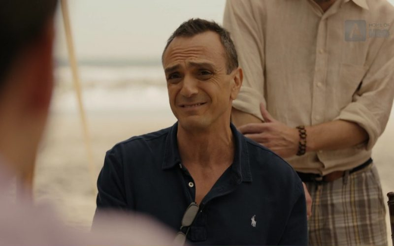 Ralph Lauren Black Polo Shirt Worn by Hank Azaria (Frank DiPascali) in The Wizard of Lies (5)