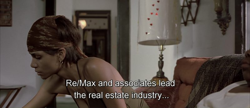 Re/Max TV Advertising in Monster's Ball (2001) Movie Product Placement