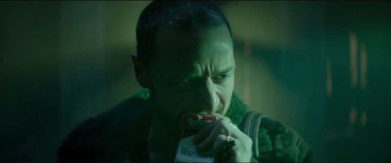 Red Marlboro Cigarettes Smoked By James McAvoy in Atomic Blonde (2017) Movie Product Placement