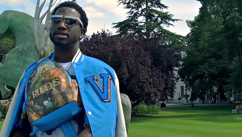 Rubens in Masters LV X Koons Bags and Clothing in Members Only by Gucci Mane (2017) Official Music Video