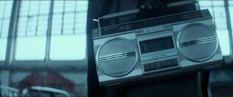 Sharp Stereo Music Player Used by Roland Møller in Atomic Blonde (2017) - Movie Product Placement