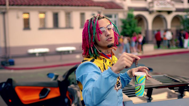 Slurpee frozen carbonated beverage in Gucci Gang by Lil Pump (2017) - Official Music Video Product Placement