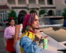 Slurpee frozen carbonated beverage in Gucci Gang by Lil Pump (2017) 3