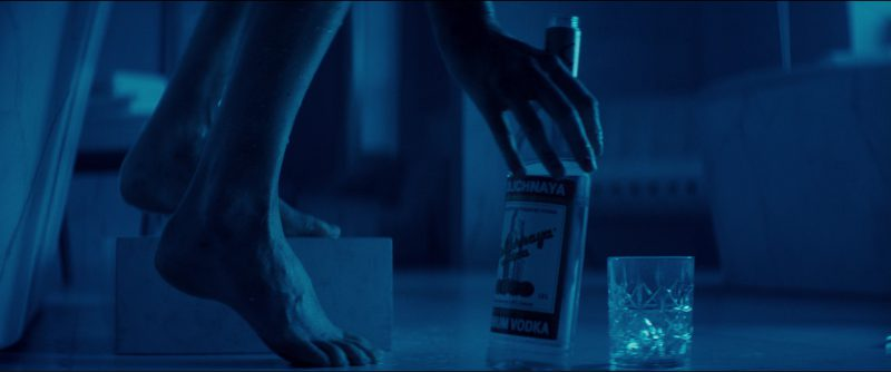 Stolichnaya Vodka Drunk by Charlize Theron in Atomic Blonde (2017) Movie Product Placement