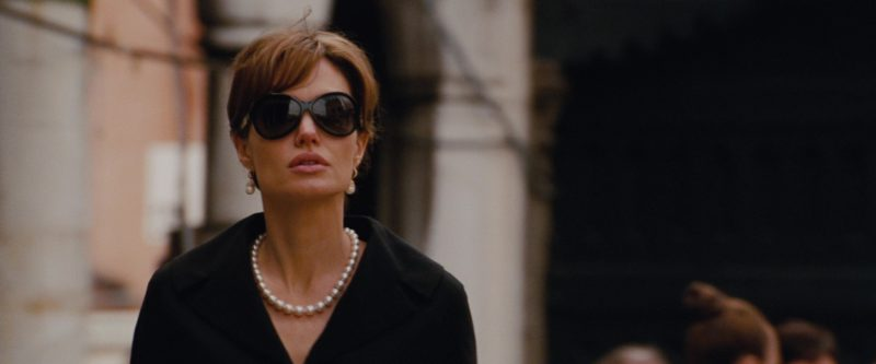 TD Tom Davies sunglasses worn by Angelina Jolie in THE TOURIST (2010) Movie Product Placement