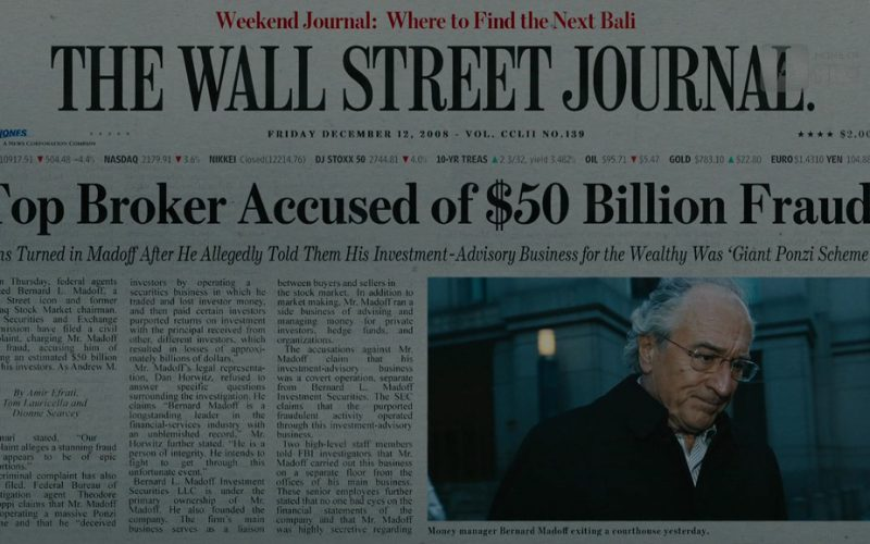 The Wall Street Journal (Newspaper) in The Wizard of Lies