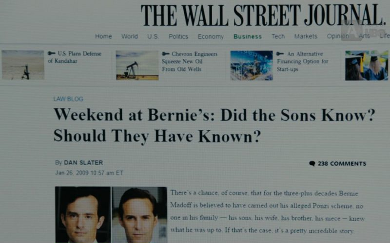 WSJ Website in The Wizard of Lies (1)