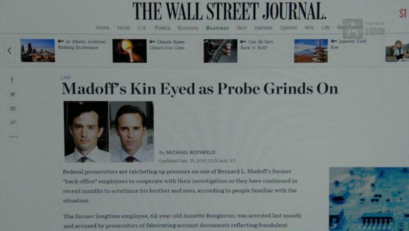 WSJ Website in The Wizard of Lies (2017) - Movie Product Placement