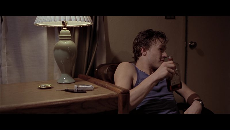 Wild Turkey bourbon whiskey drunk by Heath Ledger in Monster's Ball (2001) Movie Product Placement