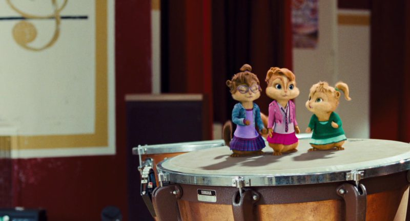 Yamaha drums in ALVIN AND THE CHIPMUNKS: THE SQUEAKQUEL (2009) Movie Product Placement