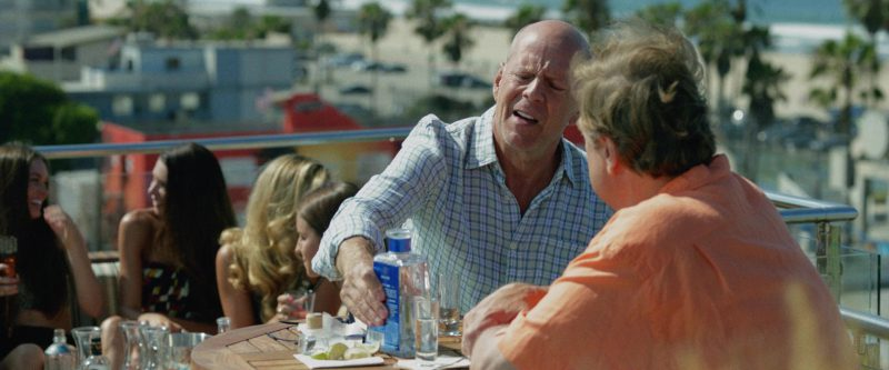 1800® Tequila Blue Bottle Drunk by Bruce Willis and John Goodman in Once Upon a Time in Venice (2017) - Movie Product Placement