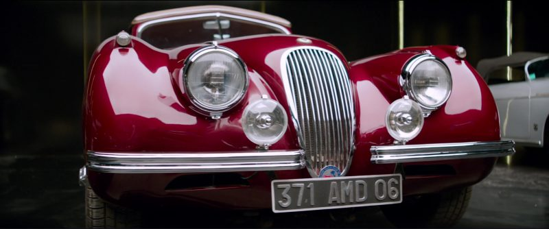 1953 Jaguar XK 120 in Overdrive (2017) Movie Product Placement