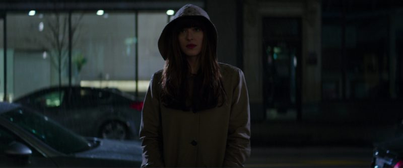 A.P.C. Mac Hooded Coat Worn by Dakota Johnson (Anastasia Steele) in Fifty Shades Darker (2017) Movie Product Placement