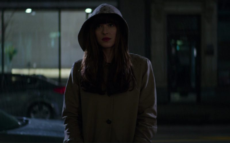 A.P.C. Mac Hooded Coat Worn by Dakota Johnson (Anastasia Steele) in Fifty Shades Darker (1)