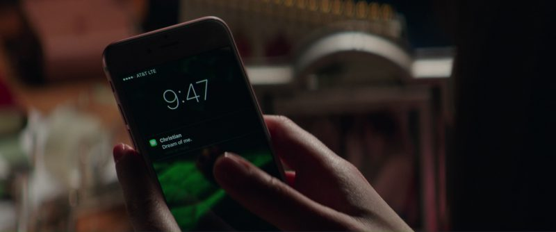 AT&T And Apple iPhone 6/6S Smartphone Used by Dakota Johnson (Anastasia Steele) in Fifty Shades Darker (2017) - Movie Product Placement