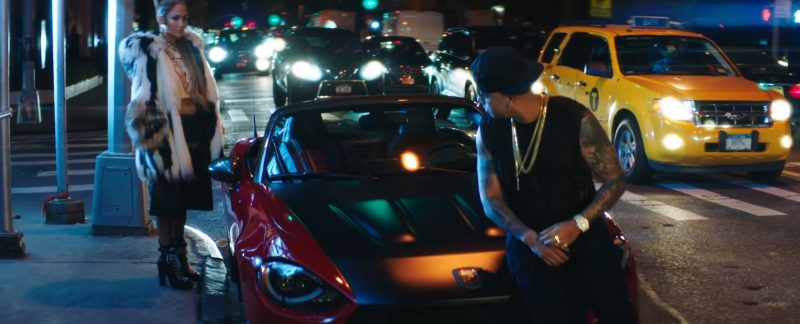 Abarth Red Car (Convertible) in Amor, Amor, Amor by Jennifer Lopez ft. Wisin (2017) Official Music Video Product Placement