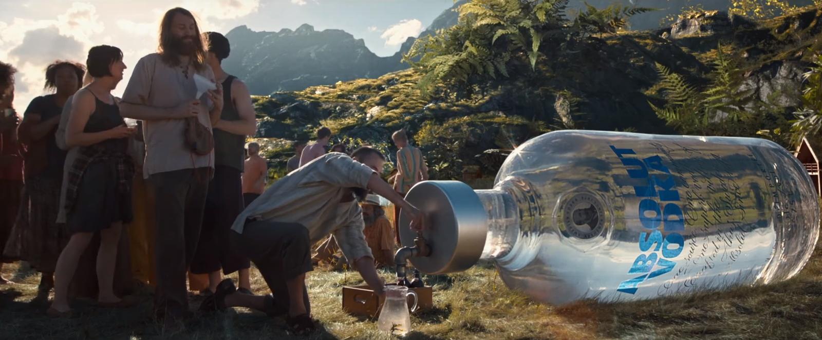 absolut vodka bottles in downsizing 2017 movie