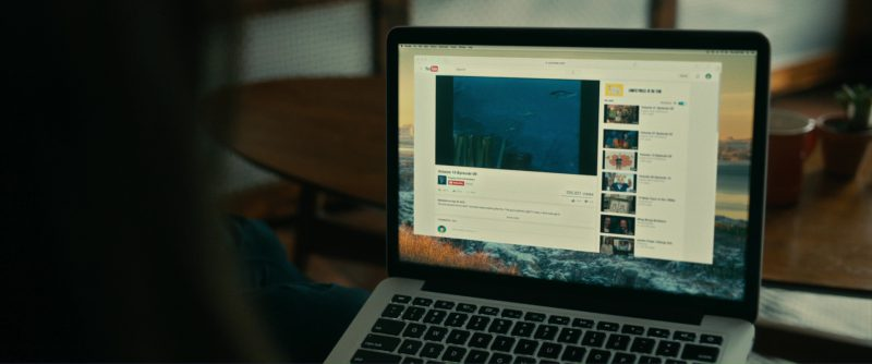 Apple MacBook Pro Laptop And Youtube Website in Brigsby Bear (2017) Movie