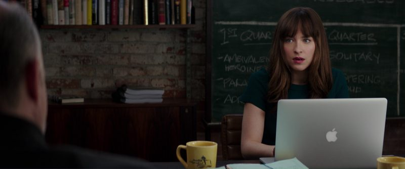 Apple Macbook Laptop Used by Dakota Johnson (Anastasia Steele) in Fifty Shades Darker (2017) Movie Product Placement