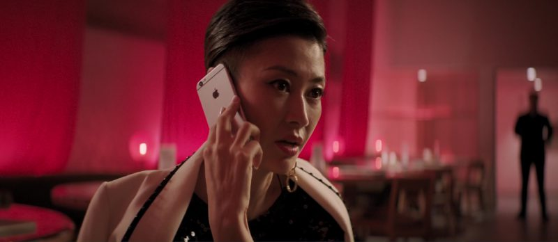Apple iPhone 6/6S Used by Liang Jing in S.M.A.R.T. Chase (2017) Movie Product Placement