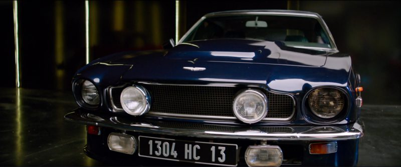 Aston Martin V8 Volante Car in Overdrive (2017) Movie Product Placement