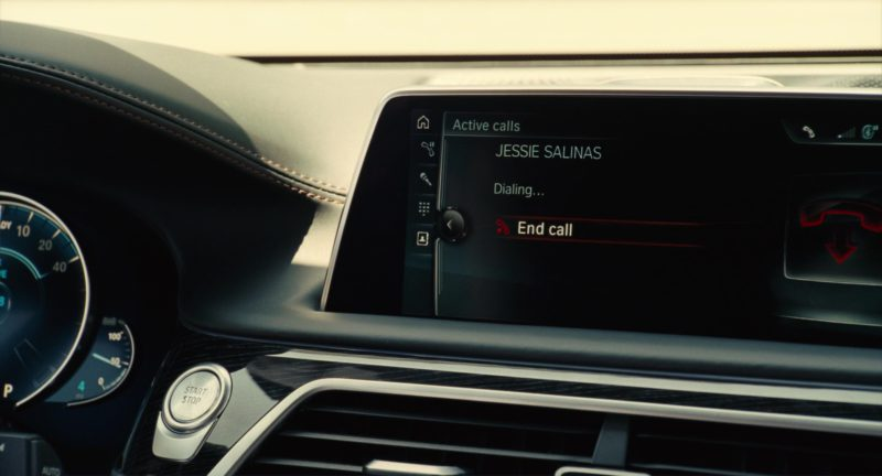 BMW 740e [G11] Car Driven by Colin Farrell in Roman J. Israel, Esq. (2017) Movie Product Placement