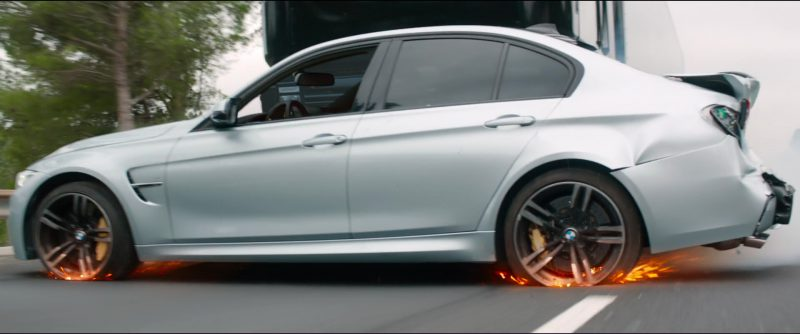 BMW M3 [F80] Car Driven by Alex Pettyfer in Overdrive (2017) Movie Product Placement