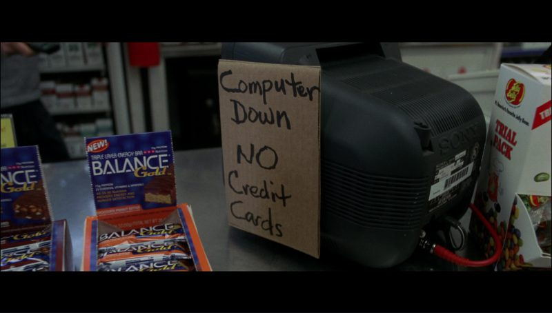 Balance Bar, Sony TV, Jelly Belly Candies in Terminator 3: Rise of the Machines (2003) - Movie Product Placement