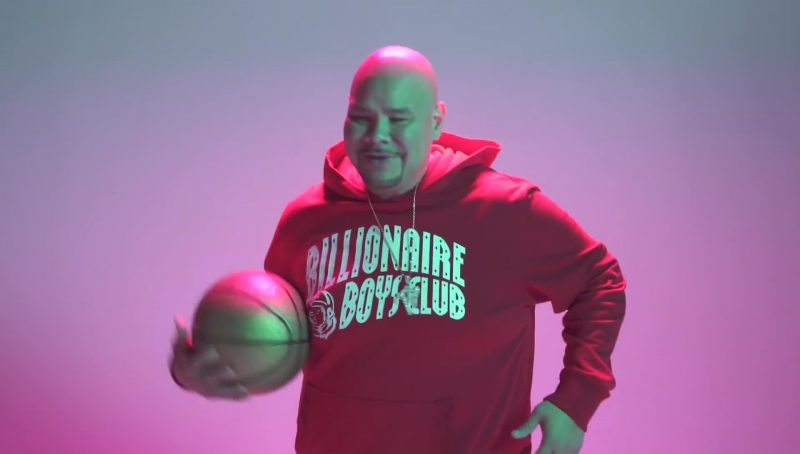Billionaire Boys Club Men's Hoodie (Red) in Flipmode by Fabolous, Velous, Chris Brown (2017) Official Music Video Product Placement