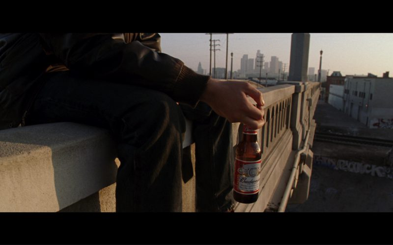 Budweiser Beer Drunk By Nick Stahl (John Connor) in Terminator 3 Rise of the Machines (2003)